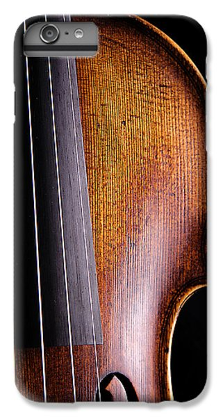 Violin Isolated On Black IPhone 6s Plus Case by M K  Miller