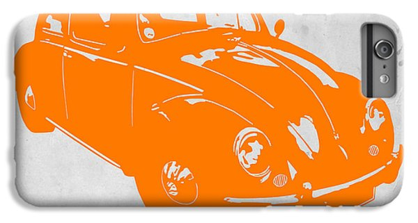 Beetle iPhone 6s Plus Case - Vw Beetle Orange by Naxart Studio