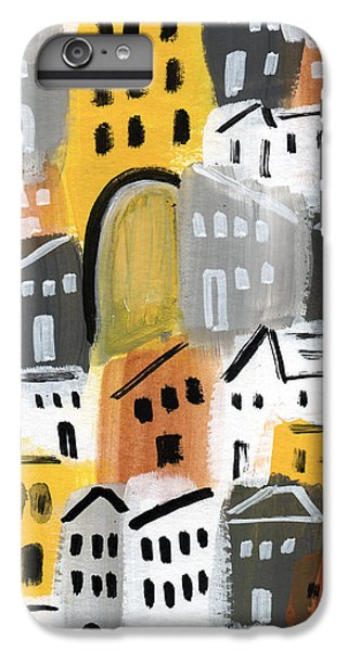 Town iPhone 6s Plus Case - Waiting For Autumn- Expressionist Art by Linda Woods