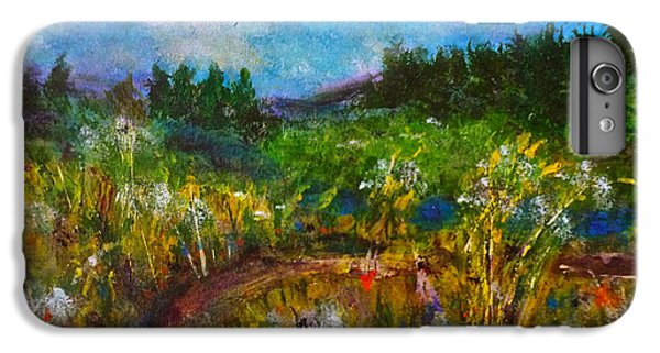 IPhone 6s Plus Case featuring the painting Walk With Me by Claire Bull