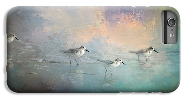 Sandpiper iPhone 6s Plus Case - Walking Into The Sunset by Marvin Spates