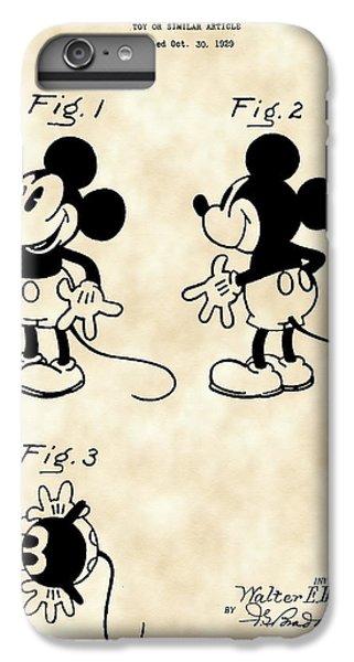 Walt Disney Mickey Mouse Patent 1929 - Vintage IPhone 6s Plus Case