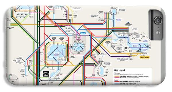 Walt Disney World Resort Transportation Map IPhone 6s Plus Case by Arthur De Wolf