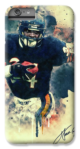 Soldier Field iPhone 6s Plus Case - Walter Payton by Taylan Apukovska