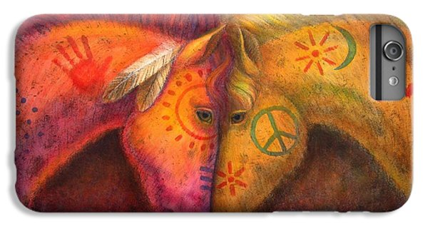 Animals iPhone 6s Plus Case - War Horse And Peace Horse by Sue Halstenberg