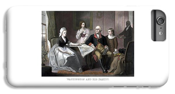 Washington And His Family IPhone 6s Plus Case by War Is Hell Store