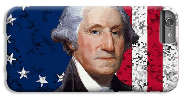 Washington And The American Flag IPhone 6s Plus Case by War Is Hell Store
