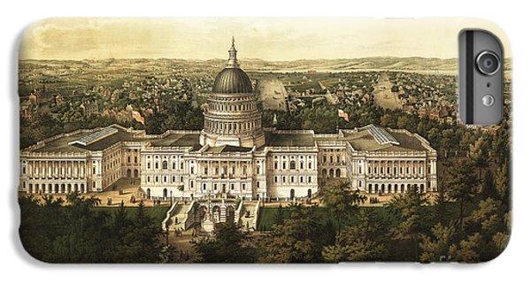 Whitehouse iPhone 6s Plus Case - Washington City 1857 by Jon Neidert