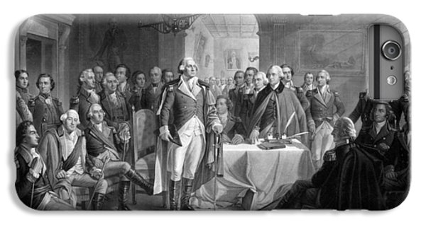 George Washington iPhone 6s Plus Case - Washington Meeting His Generals by War Is Hell Store