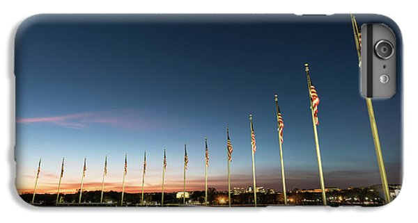 Lincoln Memorial iPhone 6s Plus Case - Washington Monument Flags by Larry Marshall