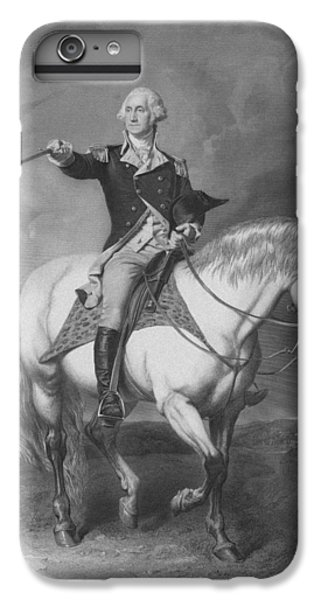George Washington iPhone 6s Plus Case - Washington Receiving A Salute At Trenton by War Is Hell Store
