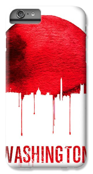 Washington Skyline Red IPhone 6s Plus Case by Naxart Studio