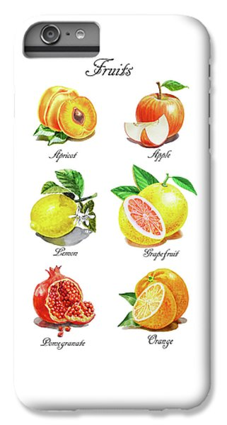 Grapefruit iPhone 6s Plus Case - Watercolor Fruit Illustration Collection I by Irina Sztukowski
