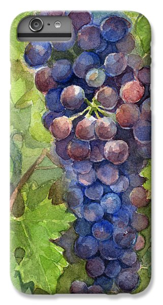 Watercolor Grapes Painting IPhone 6s Plus Case by Olga Shvartsur