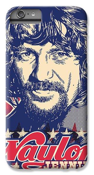 Waylon Jennings Pop Art IPhone 6s Plus Case by Jim Zahniser