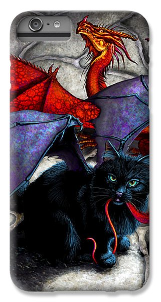 Dragon iPhone 6s Plus Case - What The Catabat Dragged In by Stanley Morrison