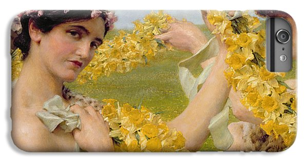 Flower Fairy iPhone 6s Plus Case - When Flowers Return by Sir Lawrence Alma-Tadema