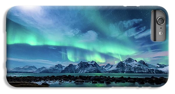 Mountain iPhone 6s Plus Case - When The Moon Shines by Tor-Ivar Naess