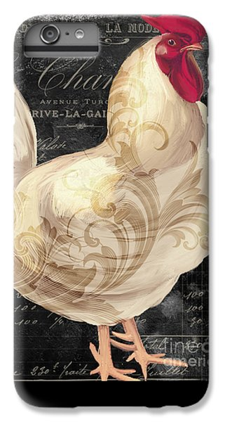 Rooster iPhone 6s Plus Case - White Rooster Cafe I by Mindy Sommers