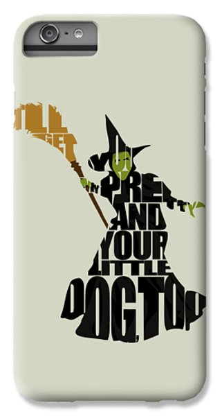 Wizard iPhone 6s Plus Case - Wicked Witch Of The West by Inspirowl Design