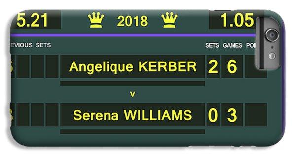 Wimbledon Scoreboard - Customizable - 2017 Muguruza IPhone 6s Plus Case