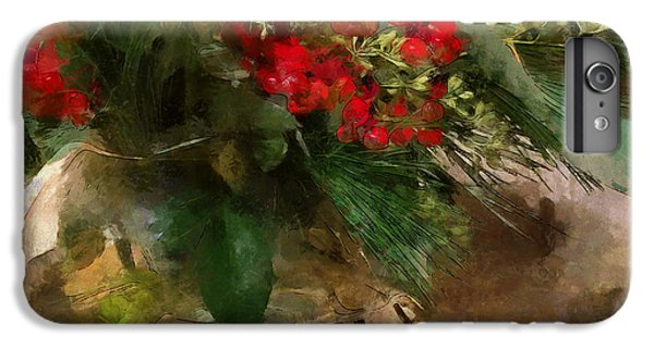 Winter Flowers In Glass Vase IPhone 6s Plus Case