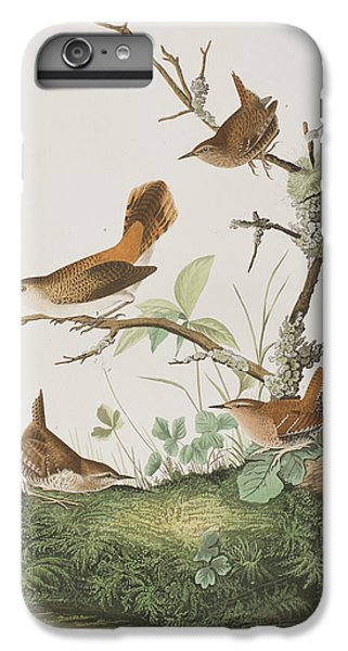 Wren iPhone 6s Plus Case - Winter Wren Or Rock Wren by John James Audubon