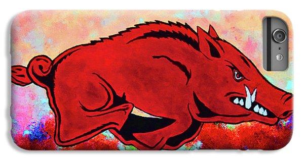 University Of Arkansas iPhone 6s Plus Case - Woo Pig Sooie 3 by Belinda Nagy