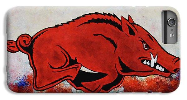 University Of Arkansas iPhone 6s Plus Case - Woo Pig Sooie by Belinda Nagy