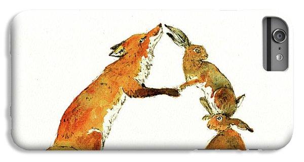 Squirrel iPhone 6s Plus Case - Woodland Letter by Juan Bosco