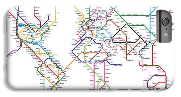 World Metro Tube Map IPhone 6s Plus Case by Michael Tompsett