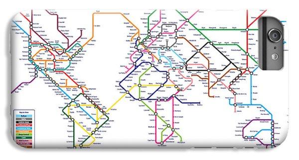 World Metro Tube Subway Map IPhone 6s Plus Case by Michael Tompsett