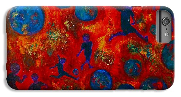 IPhone 6s Plus Case featuring the painting World Soccer Dreams 2 by Claire Bull