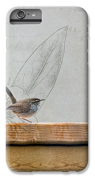 Wren iPhone 6s Plus Case - Wren 2 by Rebecca Cozart
