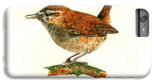 Wren Bird Art Painting IPhone 6s Plus Case by Juan  Bosco