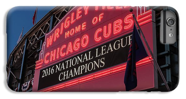 Wrigley Field Marquee Cubs National League Champs 2016 IPhone 6s Plus Case by Steve Gadomski