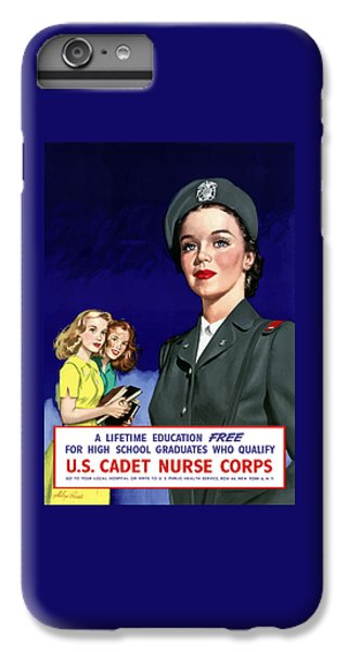 Nurse Shark iPhone 6s Plus Case - Ww2 Us Cadet Nurse Corps by War Is Hell Store