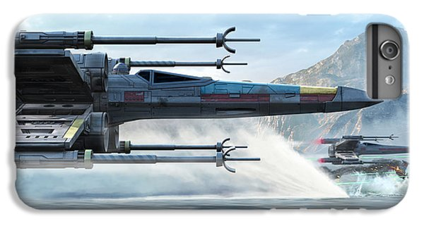 Space Ships iPhone 6s Plus Case - X-wing Full Throttle  by Kurt Miller