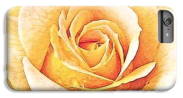 IPhone 6s Plus Case featuring the photograph Yellow Rose by Karen Shackles