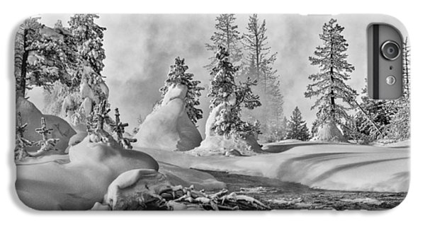 IPhone 6s Plus Case featuring the photograph Yellowstone In Winter by Gary Lengyel