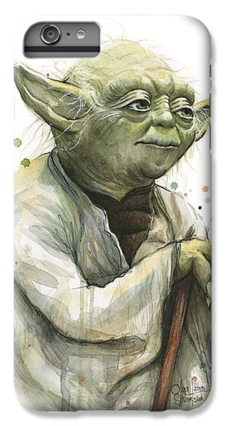 Star iPhone 6s Plus Case - Yoda Watercolor by Olga Shvartsur