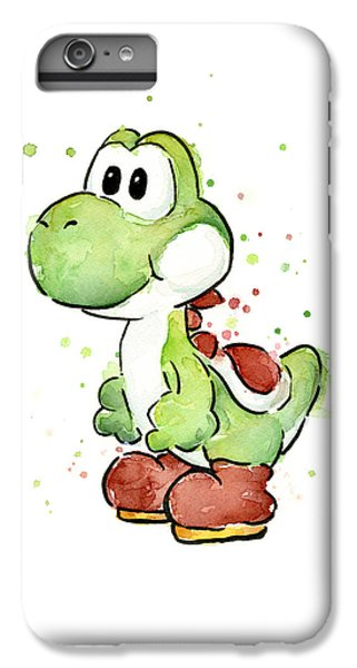 Extinct And Mythical iPhone 6s Plus Case - Yoshi Watercolor by Olga Shvartsur