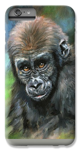 Gorilla iPhone 6s Plus Case - Young Gorilla by David Stribbling
