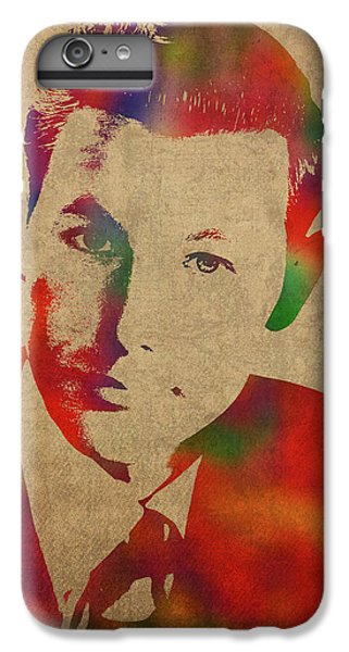 Johnny Carson iPhone 6s Plus Case - Young Johnny Carson Watercolor Portrait by Design Turnpike