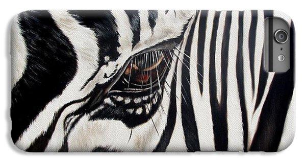 Zebra iPhone 6s Plus Case - Zebra Eye by Ilse Kleyn