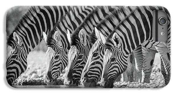Zebra iPhone 6s Plus Case - Zebras Drinking by Inge Johnsson