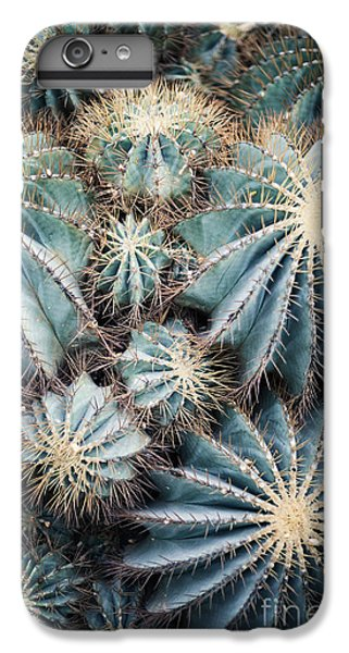 Spines iPhone 6s Plus Case - Rustic Macro Shot Of Cactus - Tropical by Naturephotography