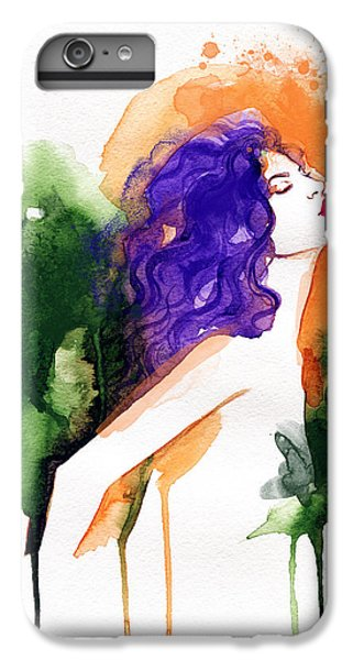Fitness iPhone 6s Plus Case - Woman . Hand Painted Fashion by Anna Ismagilova