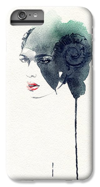 Fitness iPhone 6s Plus Case - Woman Face. Hand Painted Fashion by Anna Ismagilova