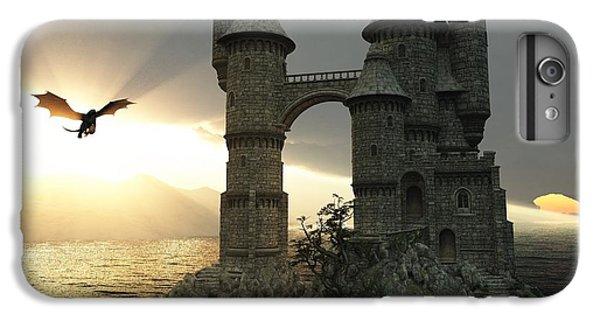 Dragon iPhone 6s Plus Case - 3d Illustration Fantasy Landscape With by E71lena